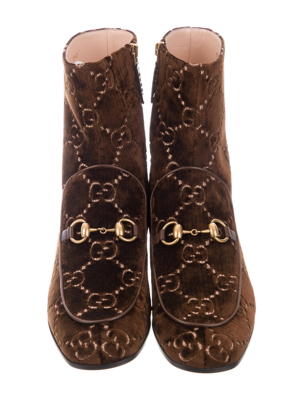 Gucci Horsebit Accent Patterned Boots Brown - image 3