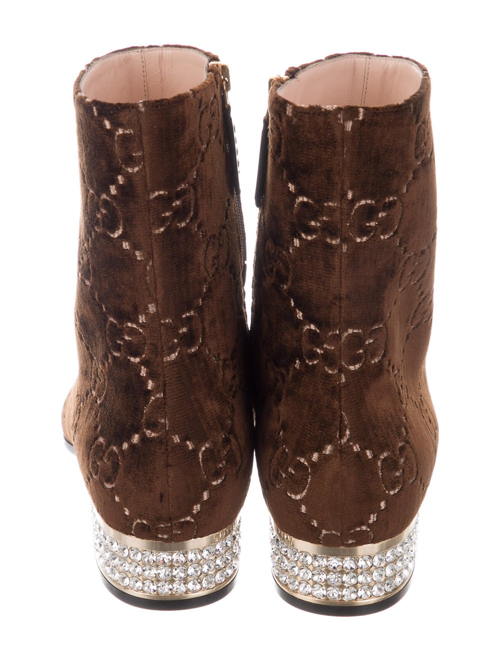 Gucci Horsebit Accent Patterned Boots Brown - image 4