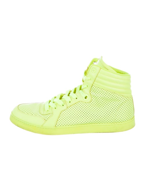 Gucci Leather Sneakers Green - image 1