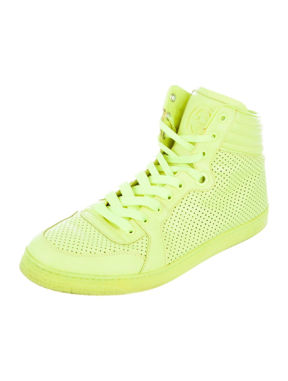 Gucci Leather Sneakers Green - image 2