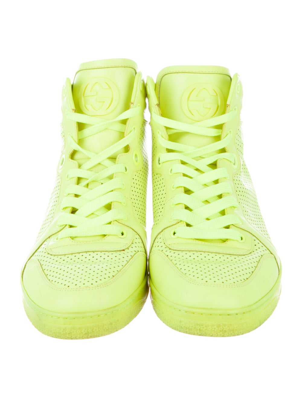 Gucci Leather Sneakers Green - image 3