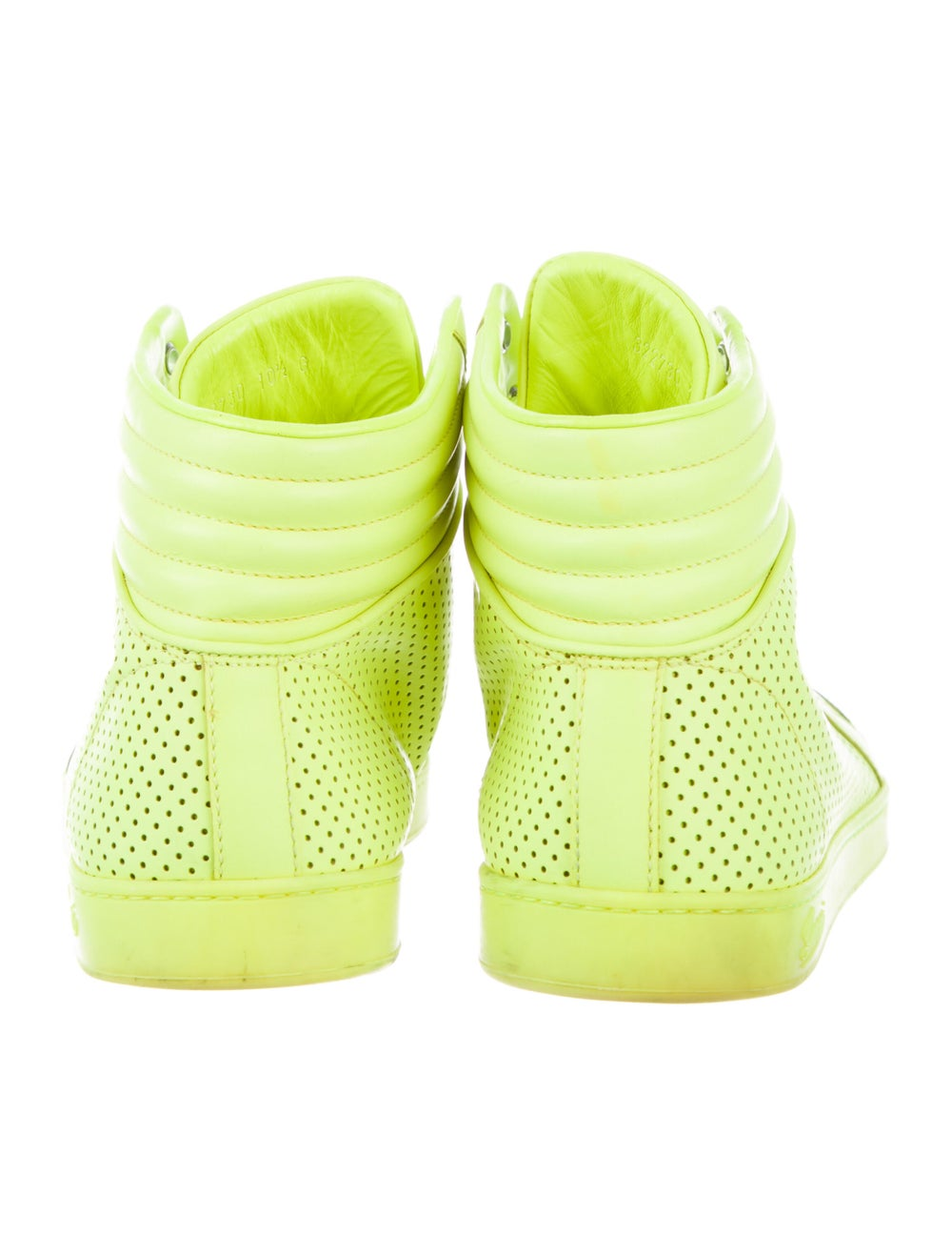 Gucci Leather Sneakers Green - image 4