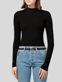 Gucci Double G Logo Skinny Belt