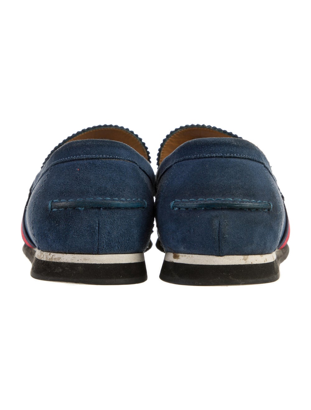 Gucci Suede Colorblock Pattern Loafers Blue - image 4