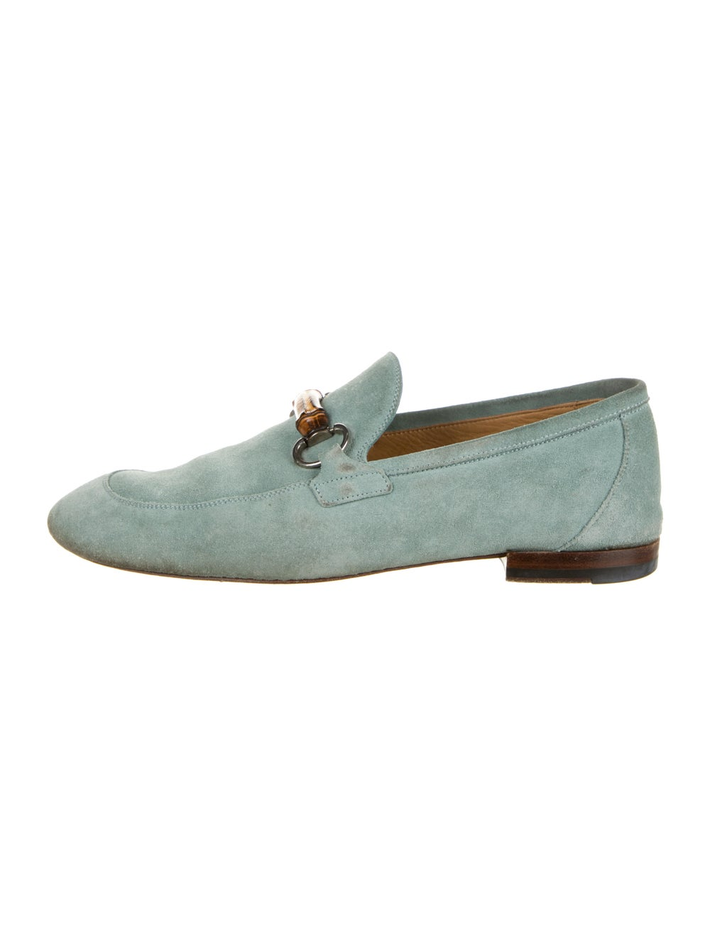 Gucci Horsebit Accent Suede Loafers Green - image 1