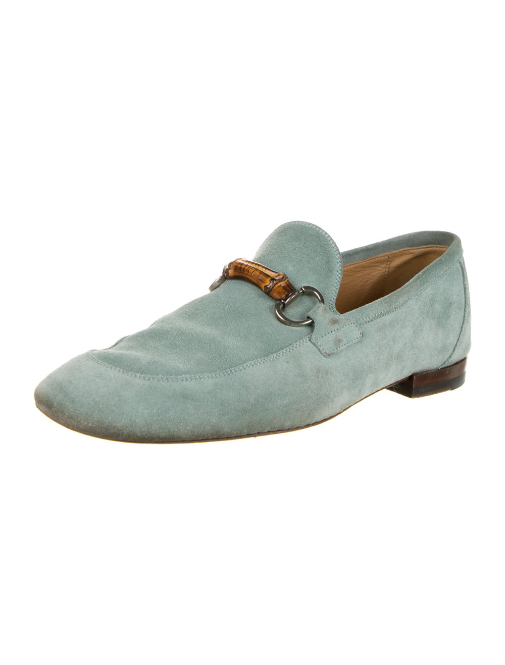 Gucci Horsebit Accent Suede Loafers Green - image 2