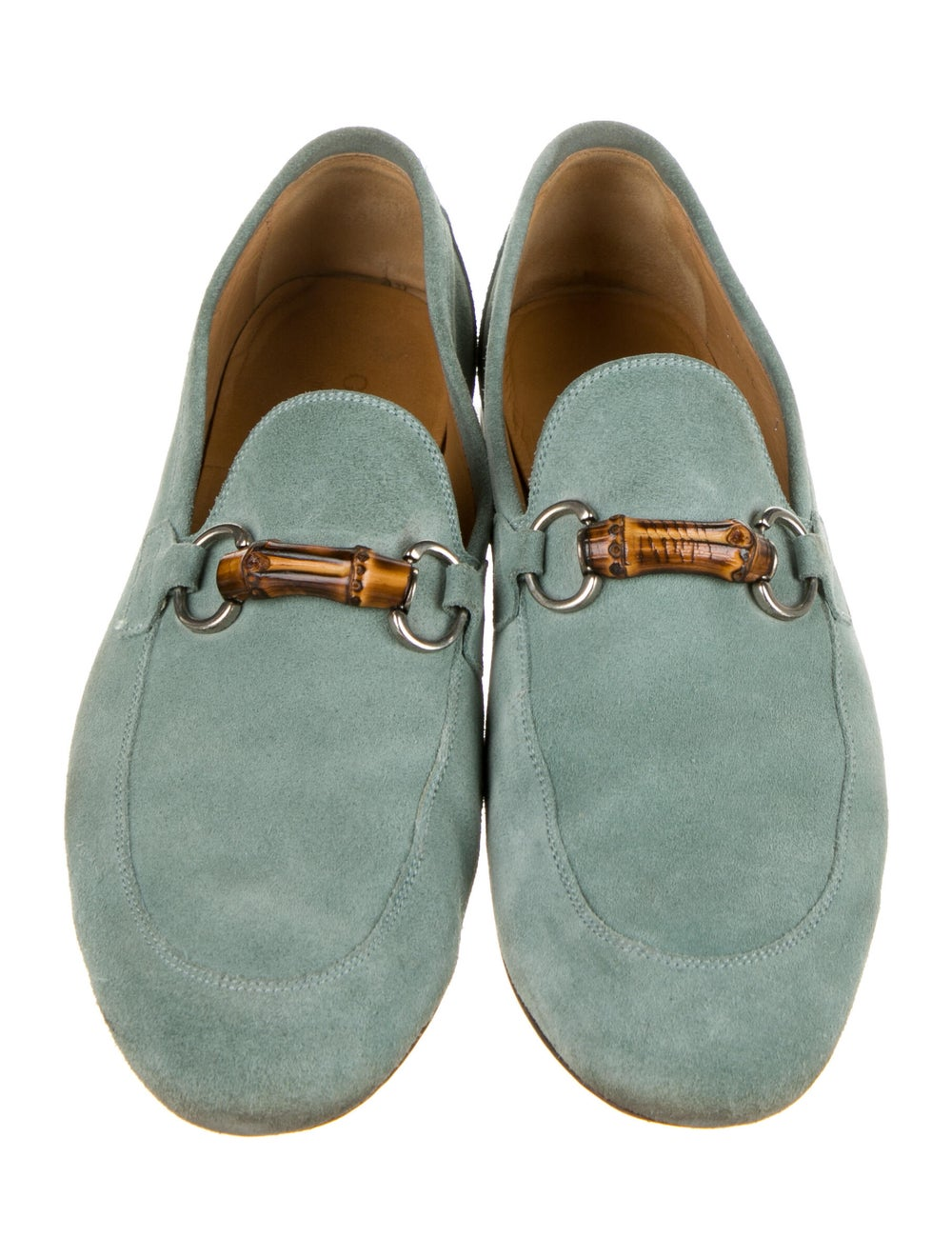 Gucci Horsebit Accent Suede Loafers Green - image 3