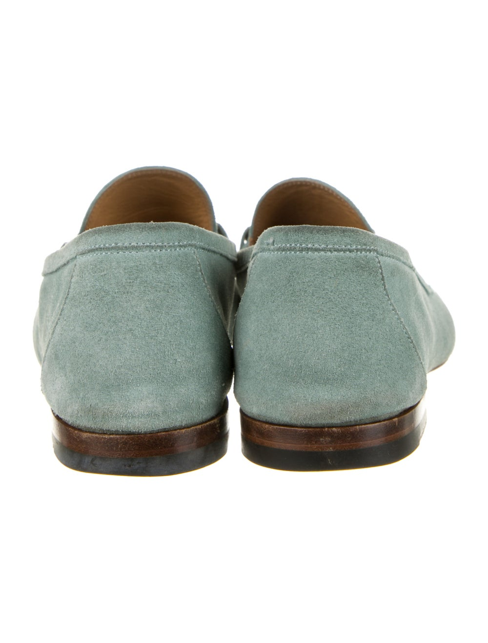 Gucci Horsebit Accent Suede Loafers Green - image 4