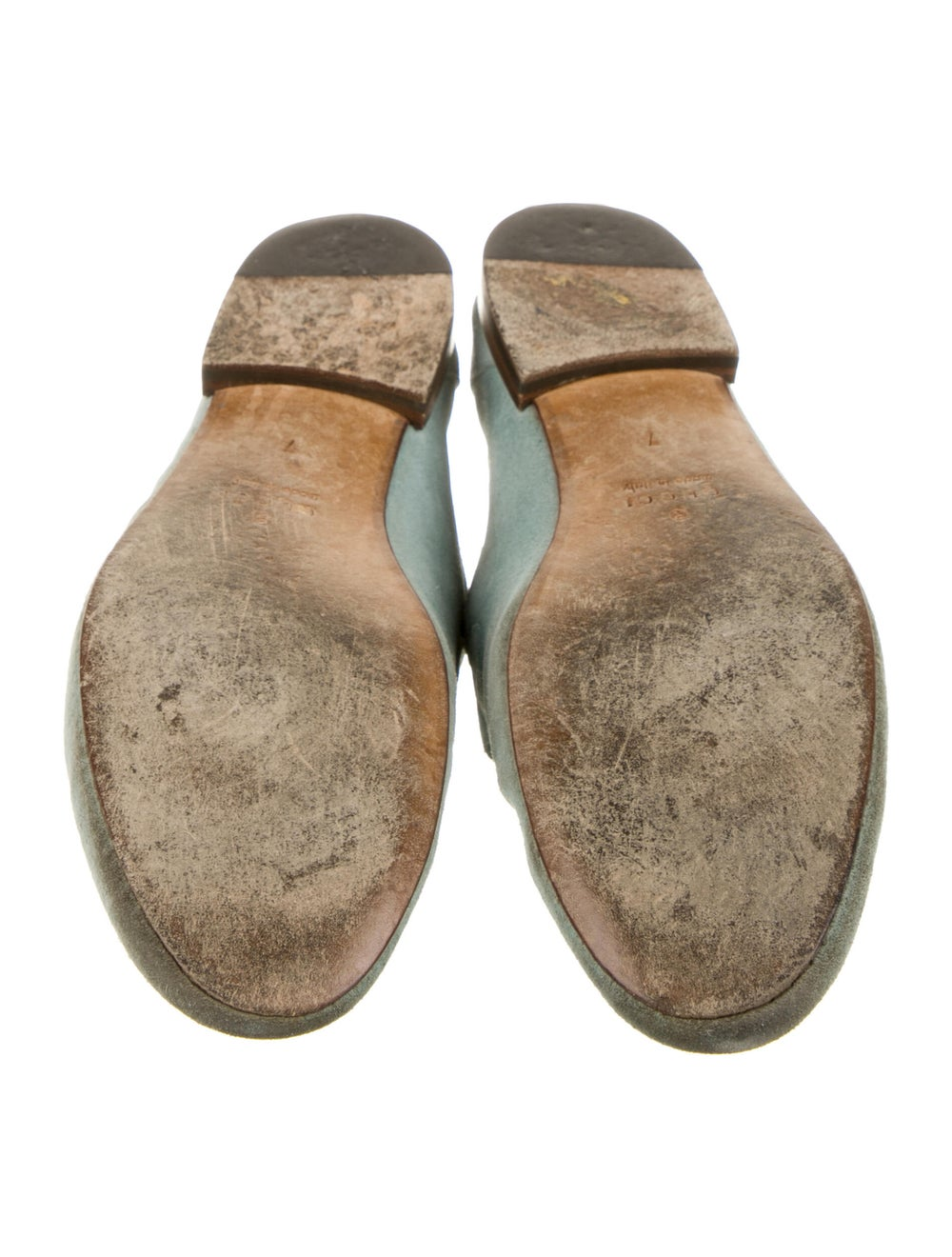 Gucci Horsebit Accent Suede Loafers Green - image 5