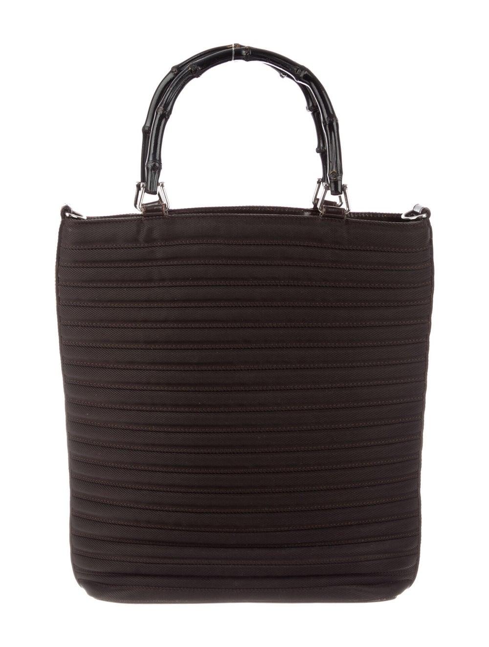 Gucci Vintage Diana Nylon Bamboo Handle Bag Brown - image 1