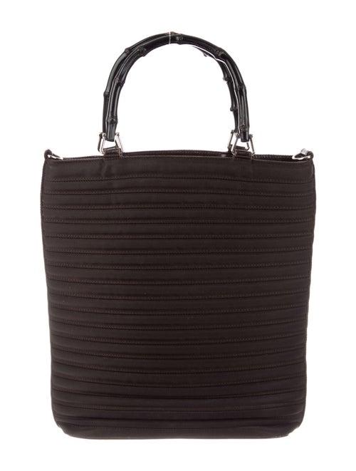 Gucci Vintage Diana Nylon Bamboo Handle Bag Brown