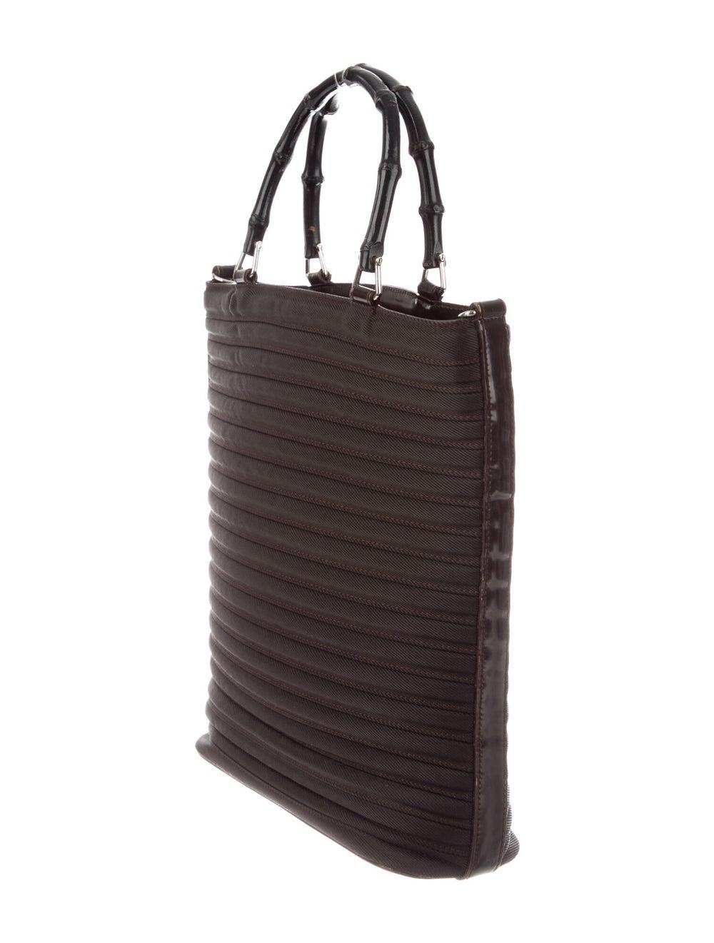 Gucci Vintage Diana Nylon Bamboo Handle Bag Brown - image 3