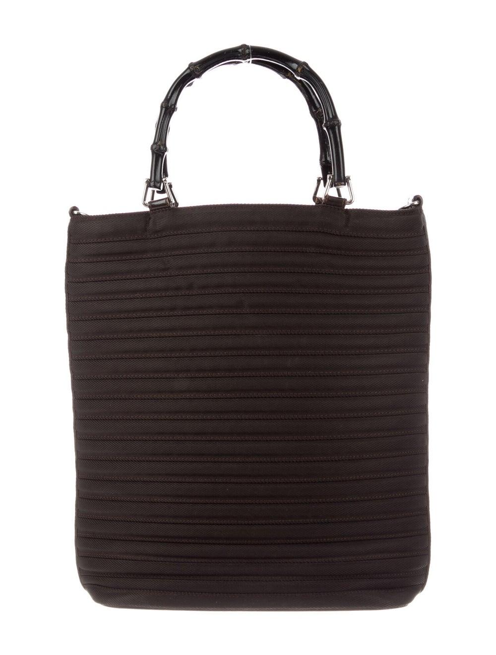Gucci Vintage Diana Nylon Bamboo Handle Bag Brown - image 4