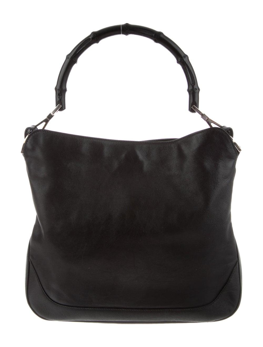 Gucci Vintage Leather Bamboo Handle Bag Black - image 4