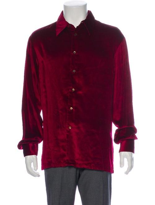 Gucci Vintage 1990's Dress Shirt Red - image 1