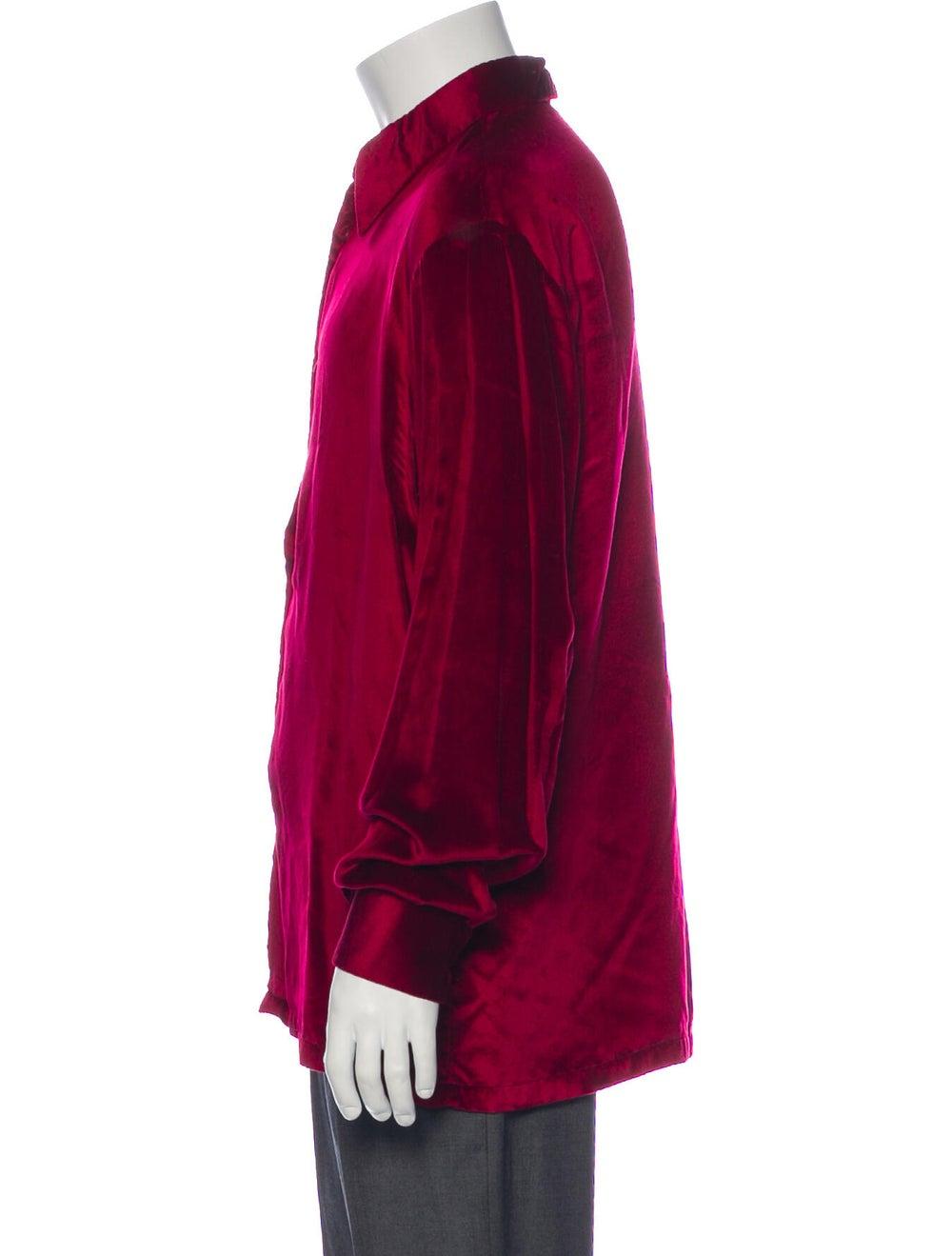 Gucci Vintage 1990's Dress Shirt Red - image 2