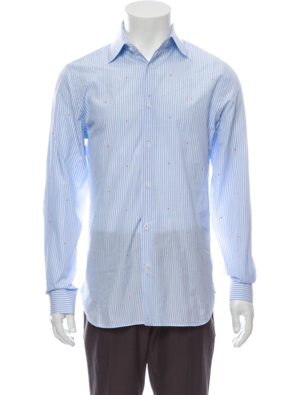 Gucci 2018 Striped Shirt Blue - image 1