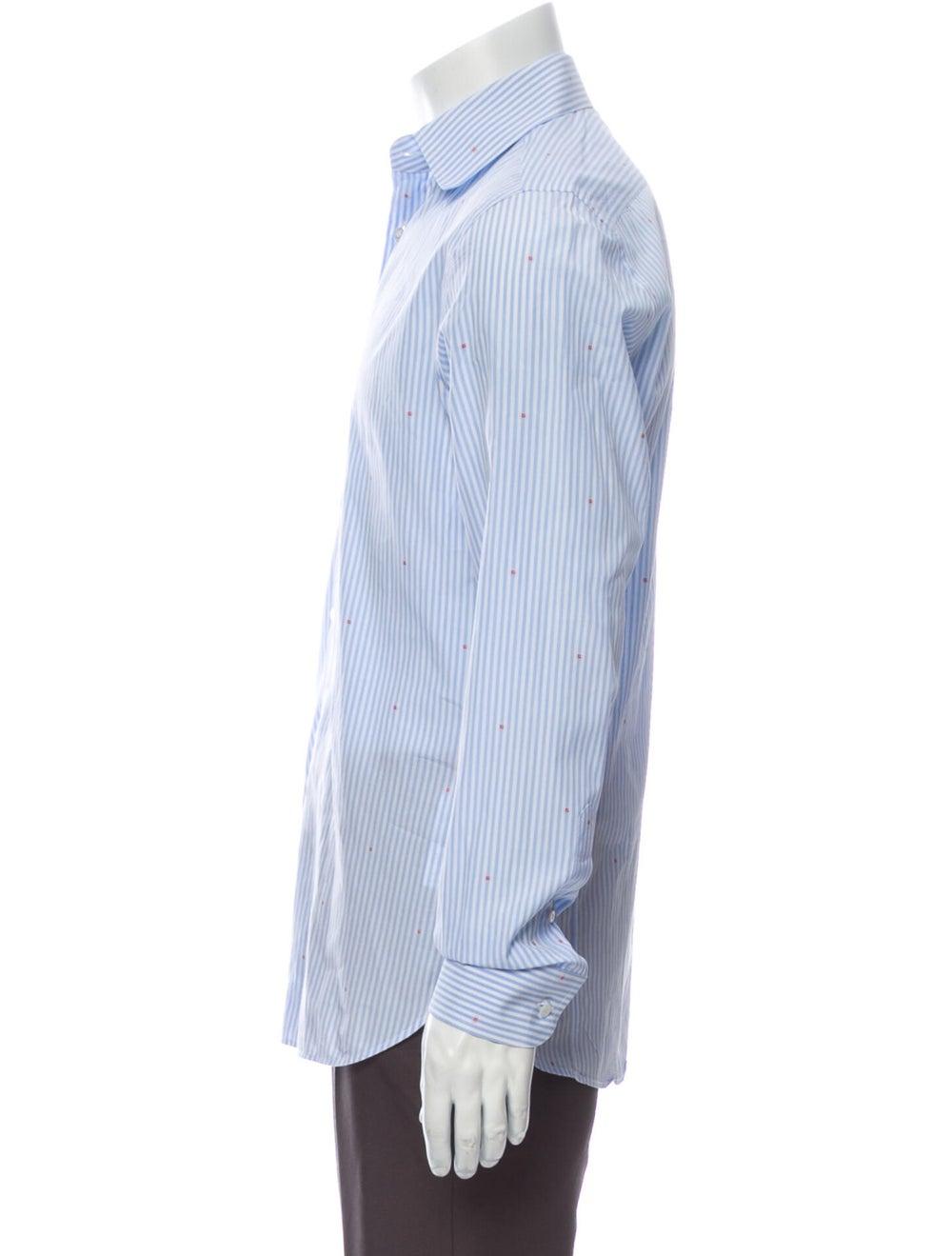 Gucci 2018 Striped Shirt Blue - image 2