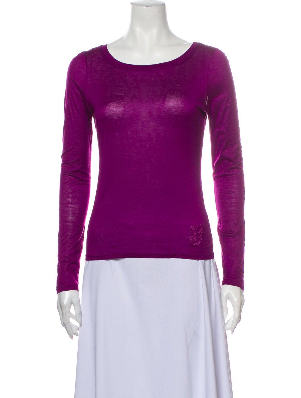 Gucci Vintage Scoop Neck T-Shirt Purple - image 1