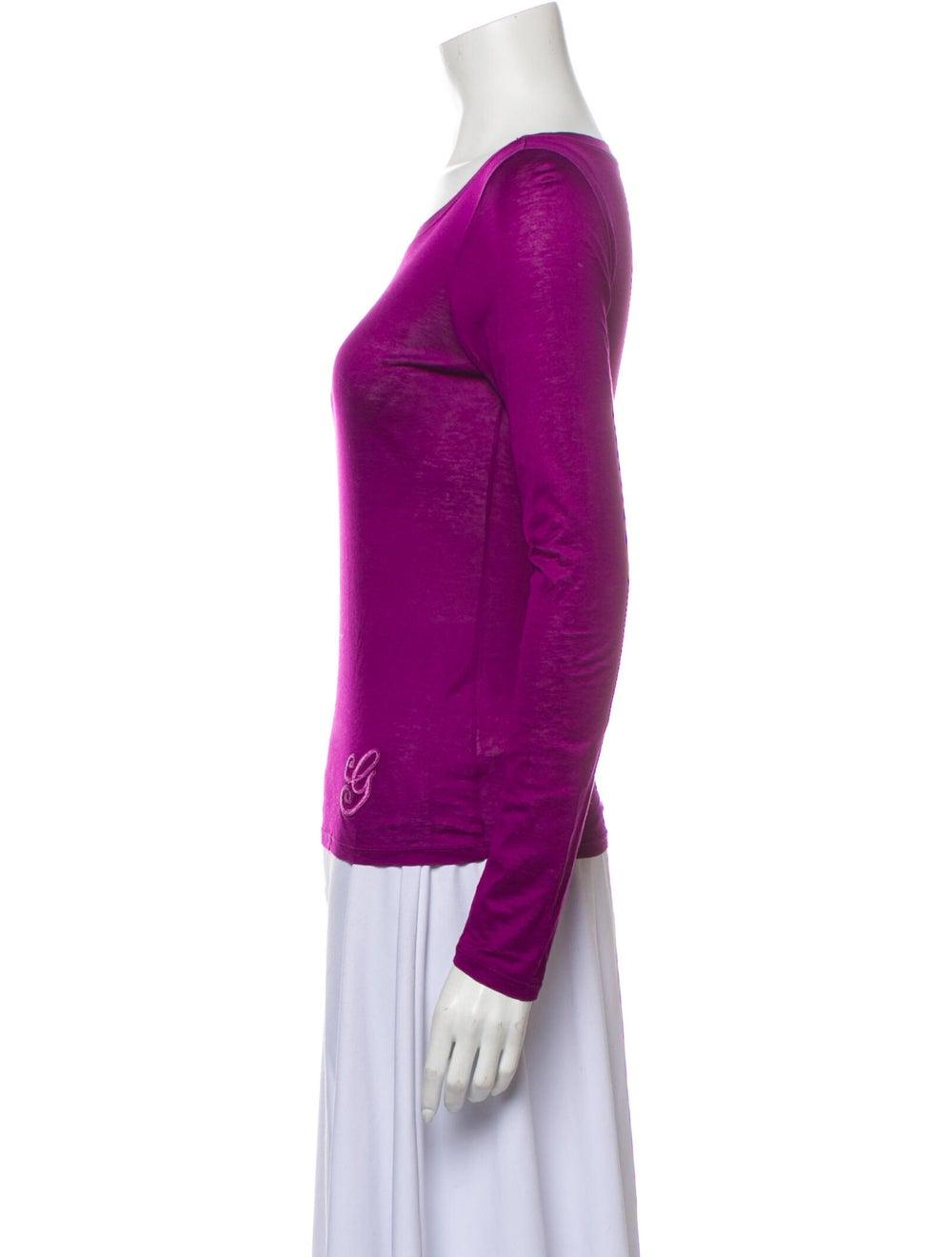 Gucci Vintage Scoop Neck T-Shirt Purple - image 2