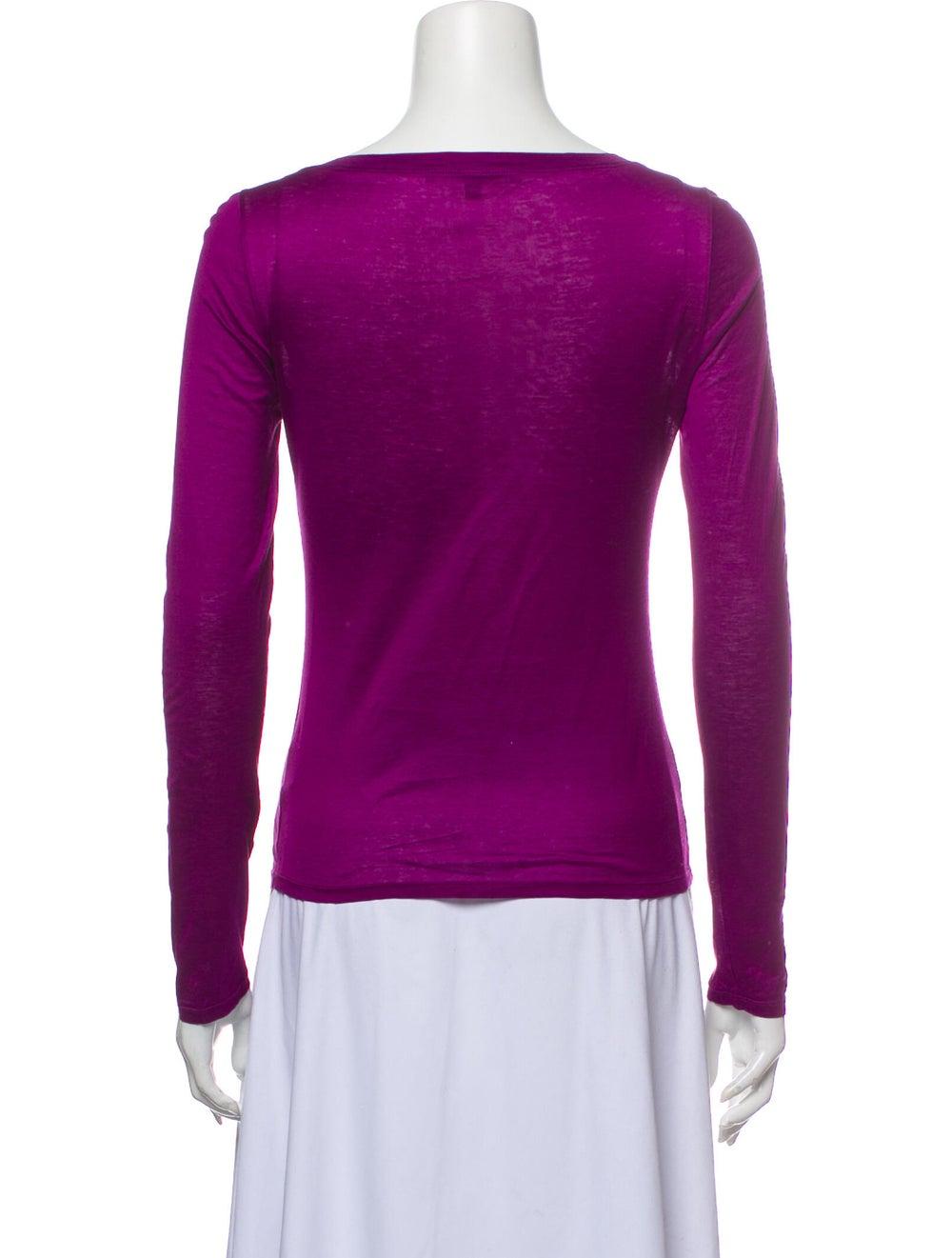 Gucci Vintage Scoop Neck T-Shirt Purple - image 3