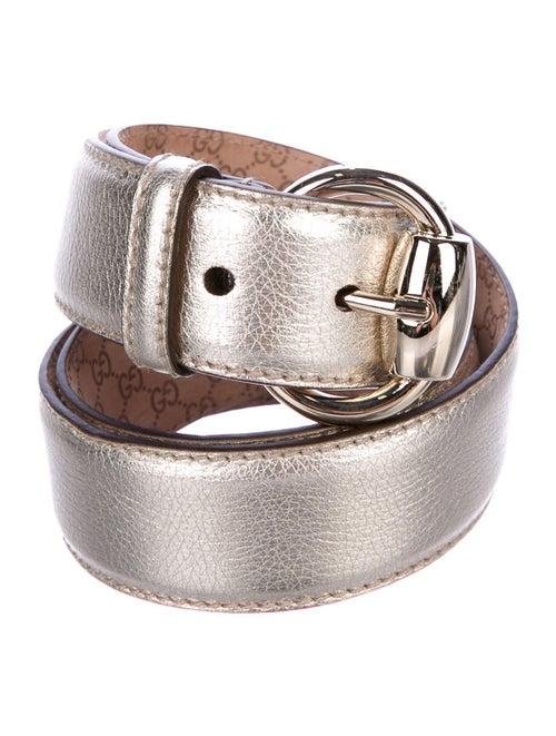 Gucci Leather Waist Belt Gold