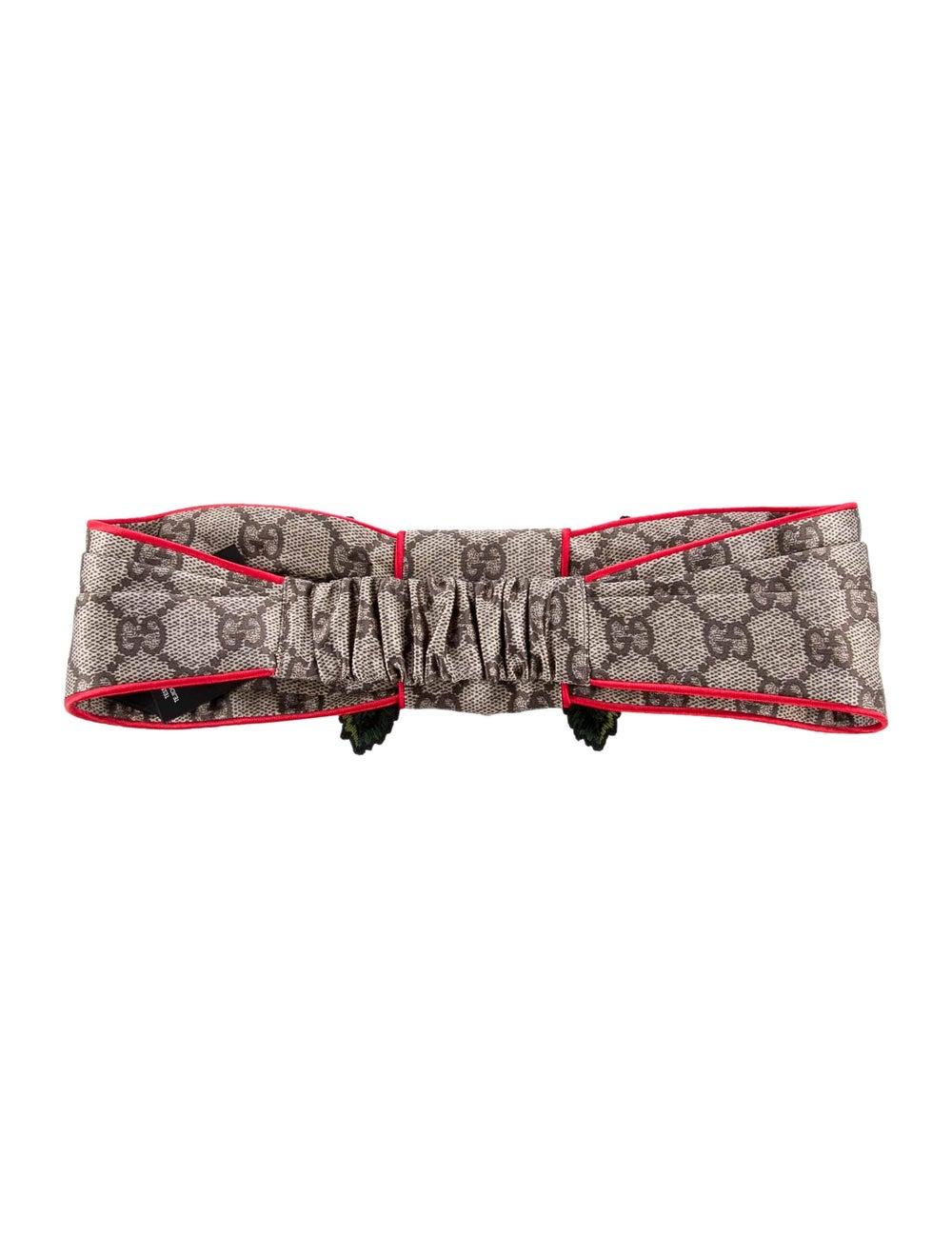 Gucci Silk Floral Headband w/ Tags Blue - image 2