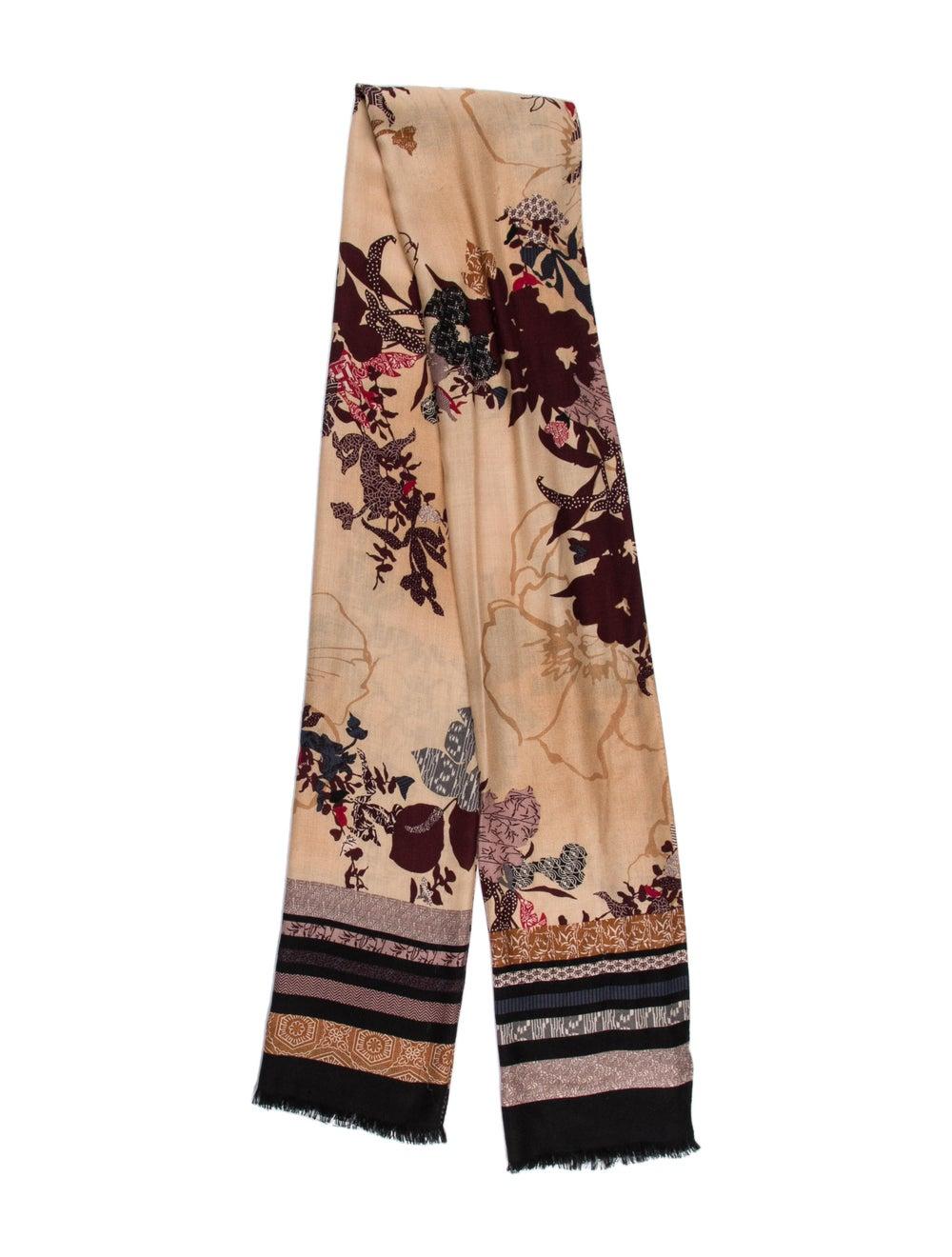Gucci Silk Floral Print Scarf w/ Tags - image 1