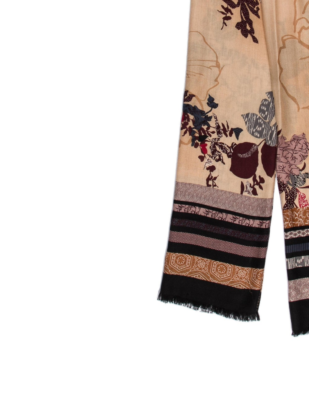 Gucci Silk Floral Print Scarf w/ Tags - image 2