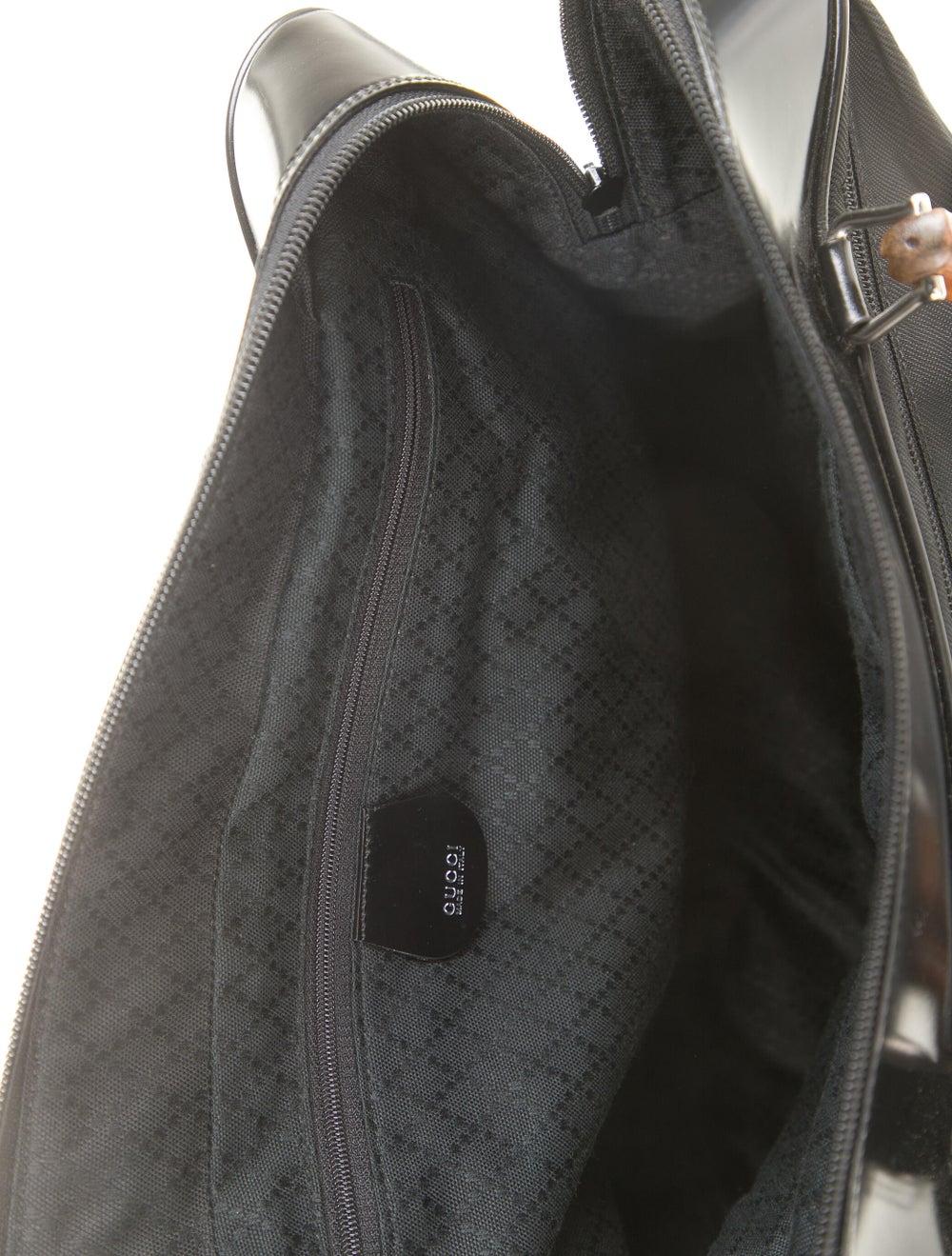 Gucci Vintage Nylon Bamboo Handle Bag Black - image 5
