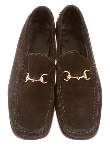 Suede Horsebit Loafers