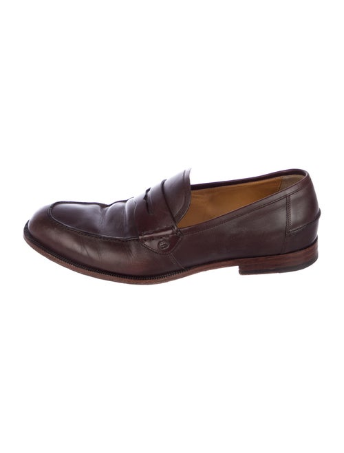 Gucci Penny Loafers Leather Loafers Brown