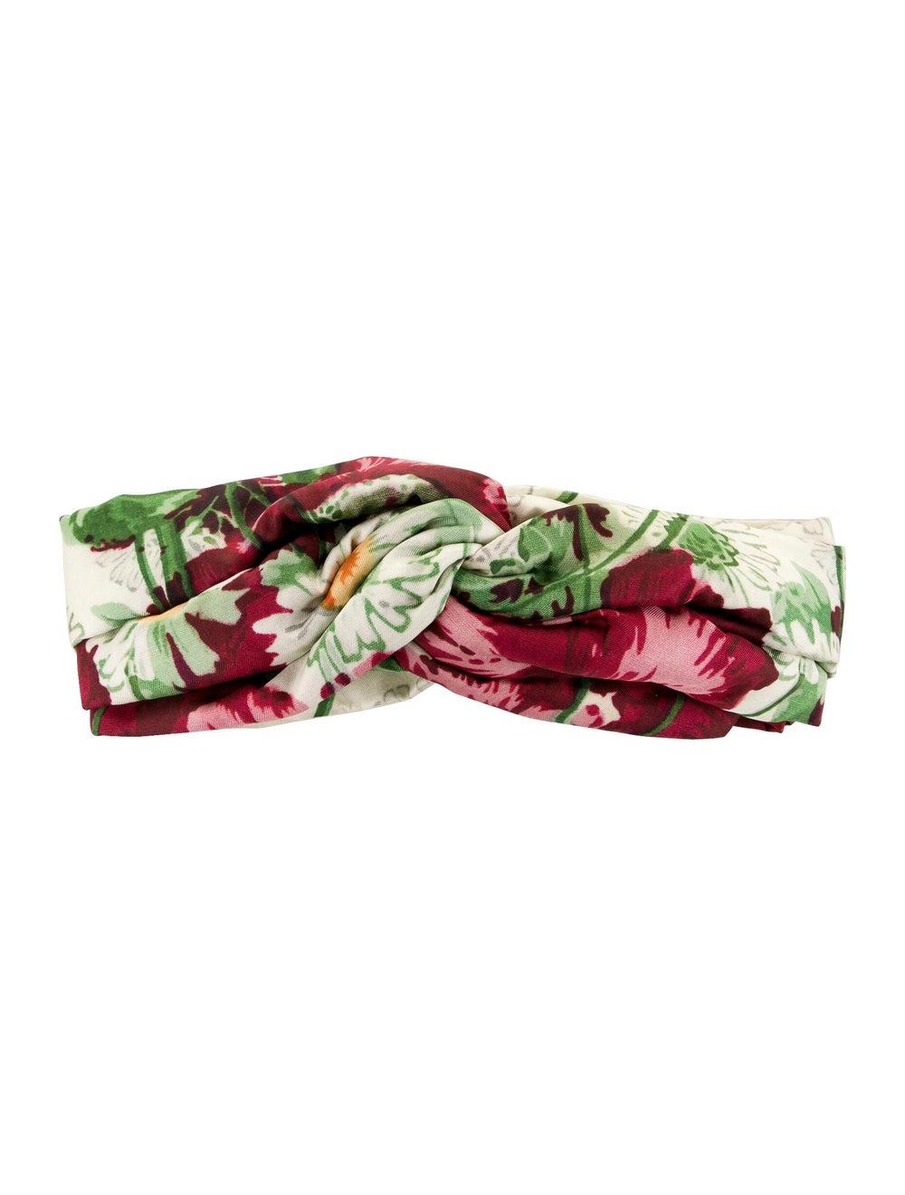 Gucci Silk Floral Headband multicolor - image 1