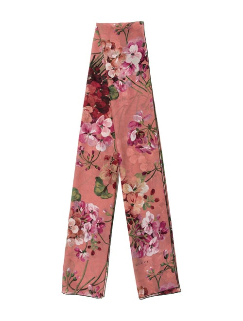 Gucci Floral Print Scarf Pink - image 1