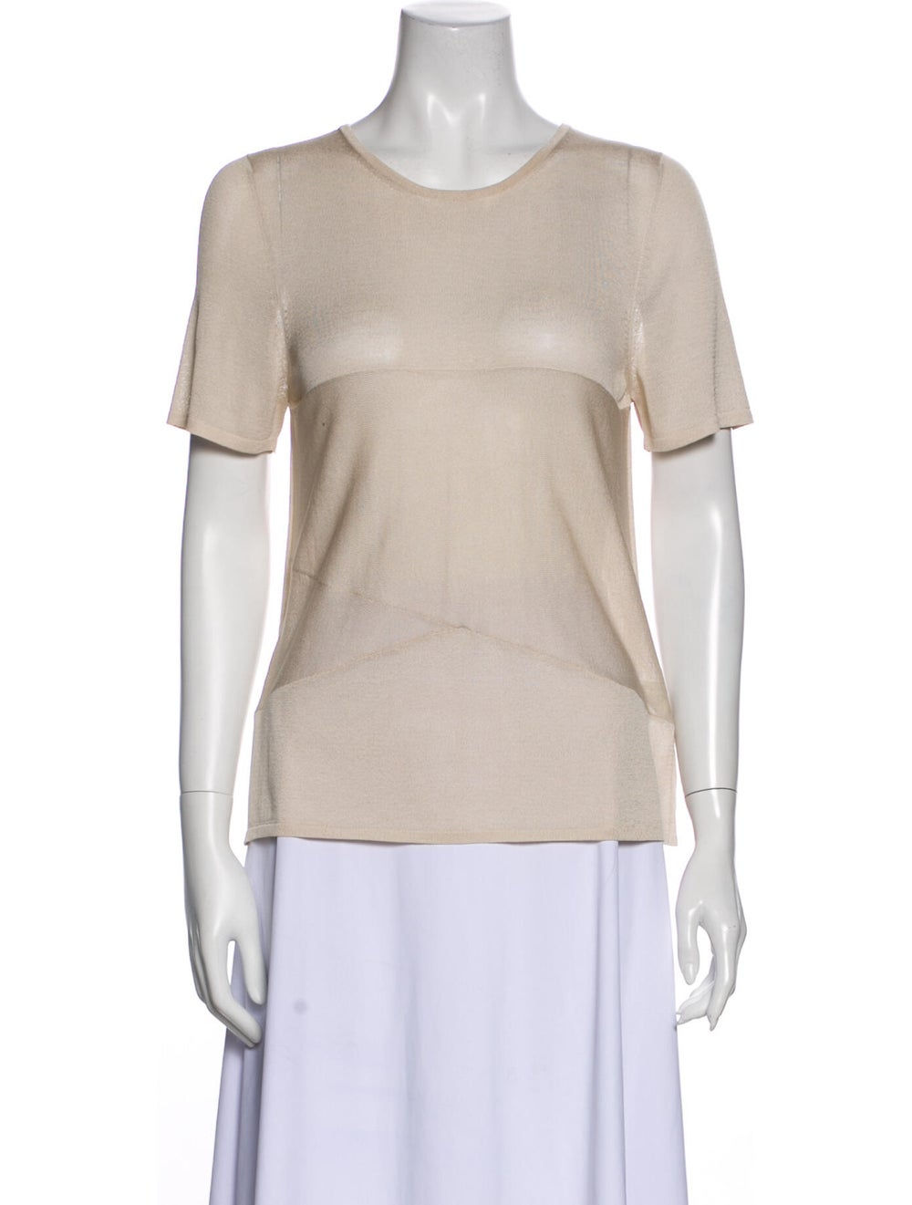 Gucci Vintage Silk T-Shirt - image 1