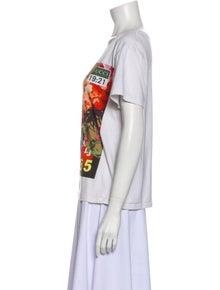 Gucci Graphic Print Crew Neck T-Shirt