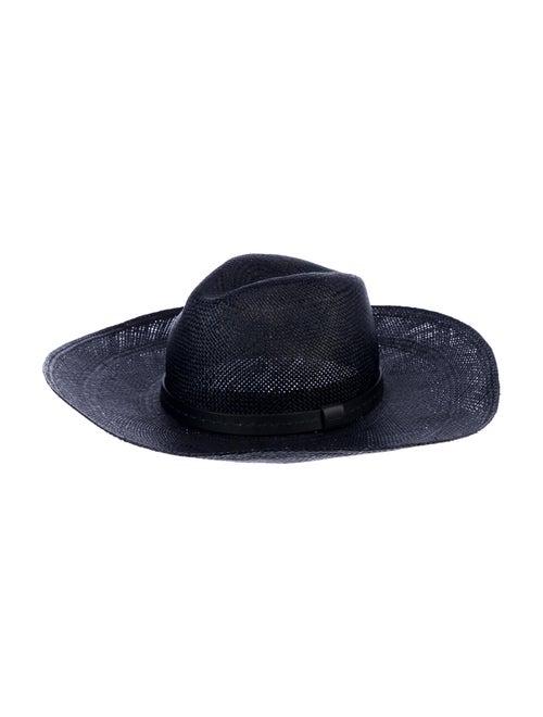 Gucci Straw Wide Brim Hat Navy