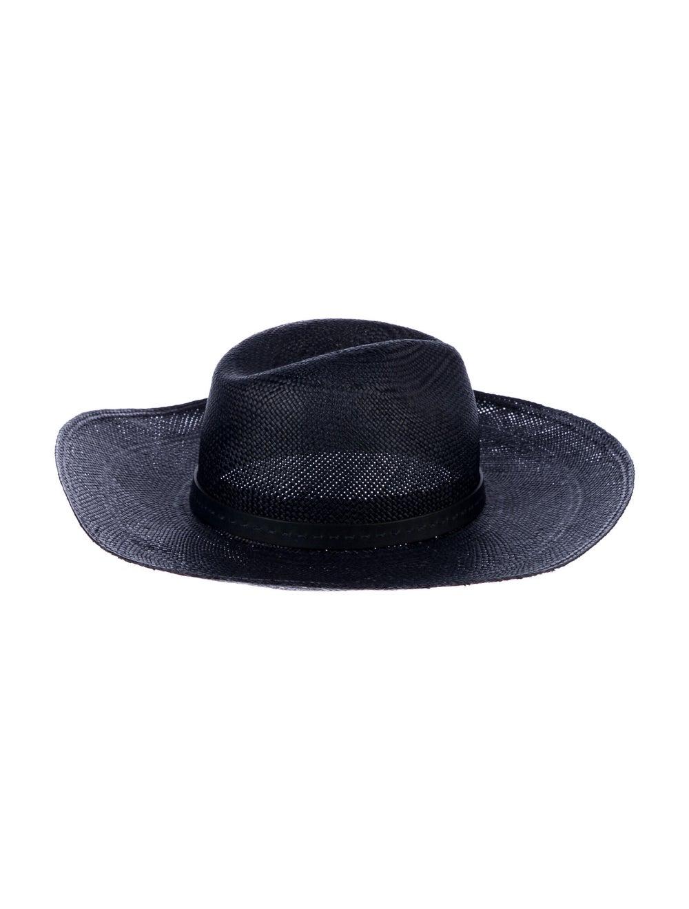 Gucci Straw Wide Brim Hat Navy - image 2