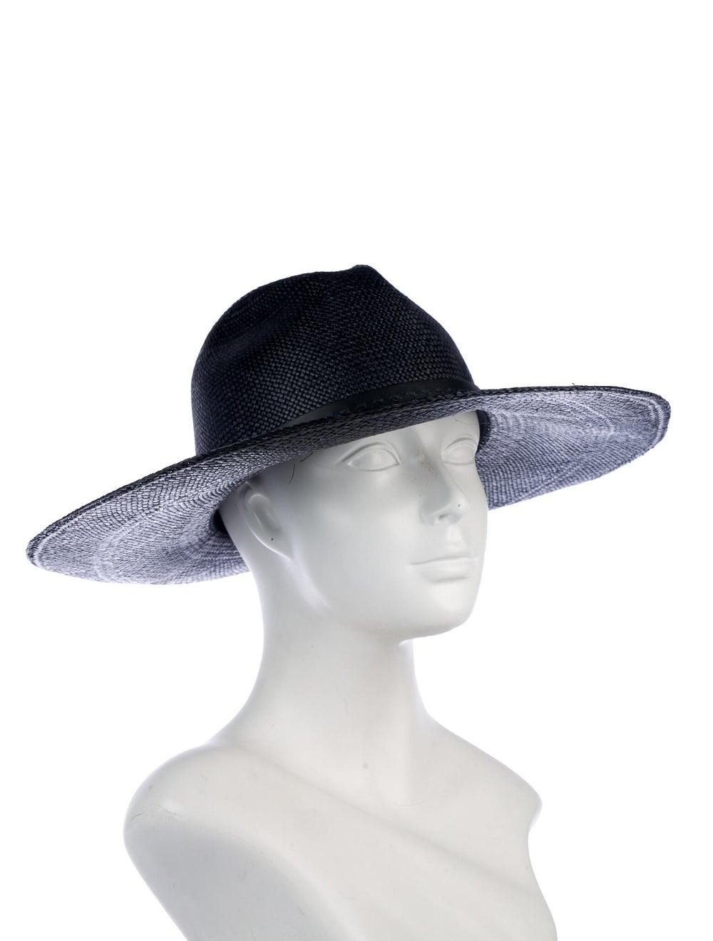 Gucci Straw Wide Brim Hat Navy - image 3