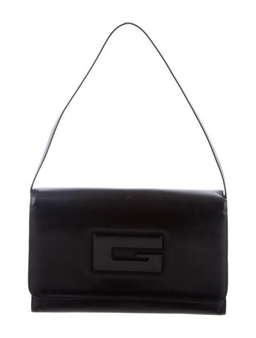 Gucci Vintage G Leather Shoulder Bag Black