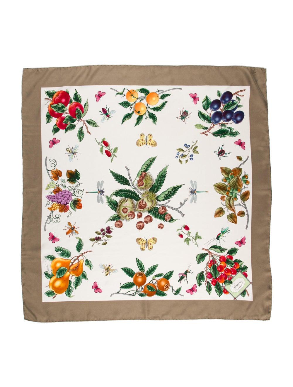 Gucci Silk Floral Print Scarf - image 1