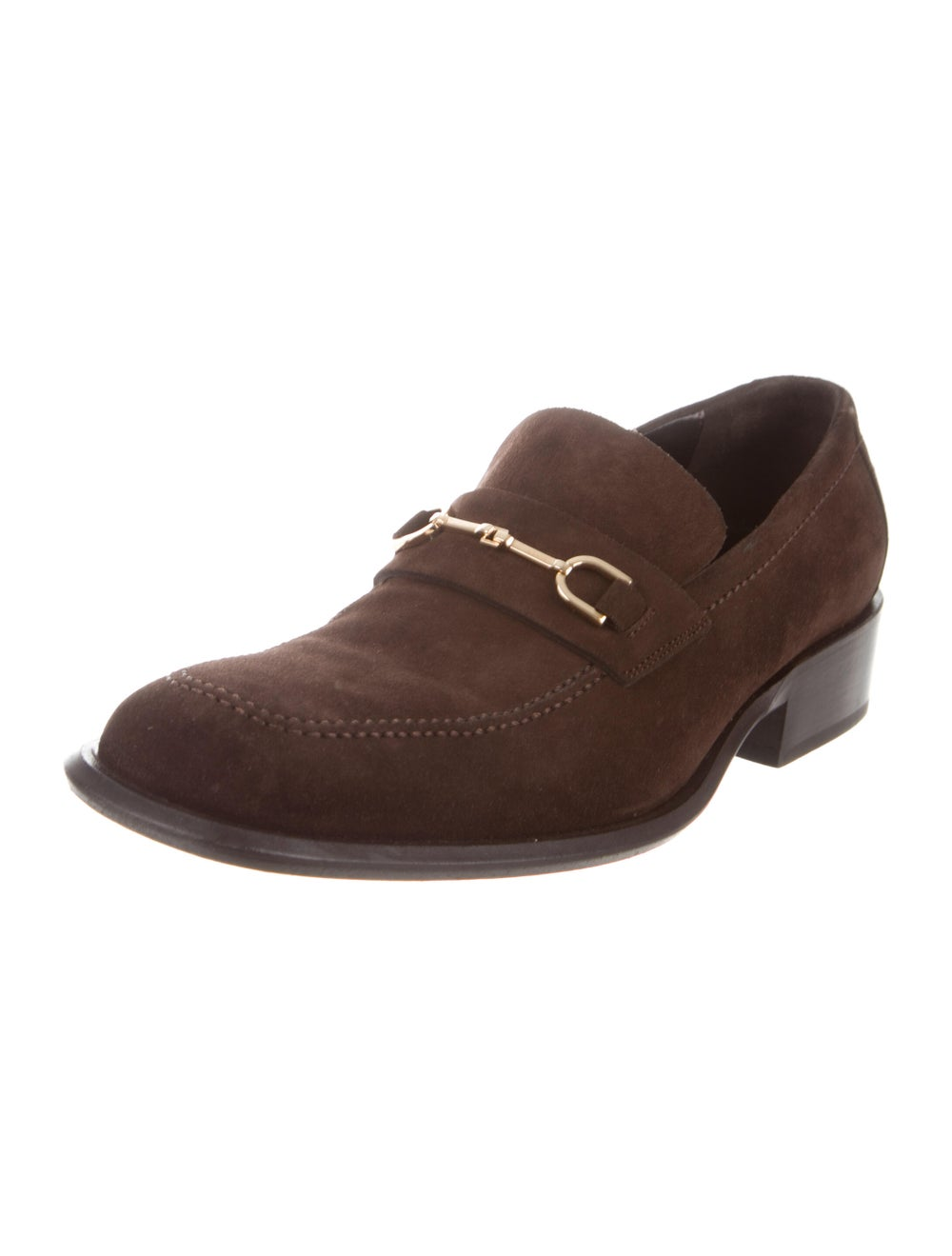 Gucci Suede Dress Loafers Brown - image 2