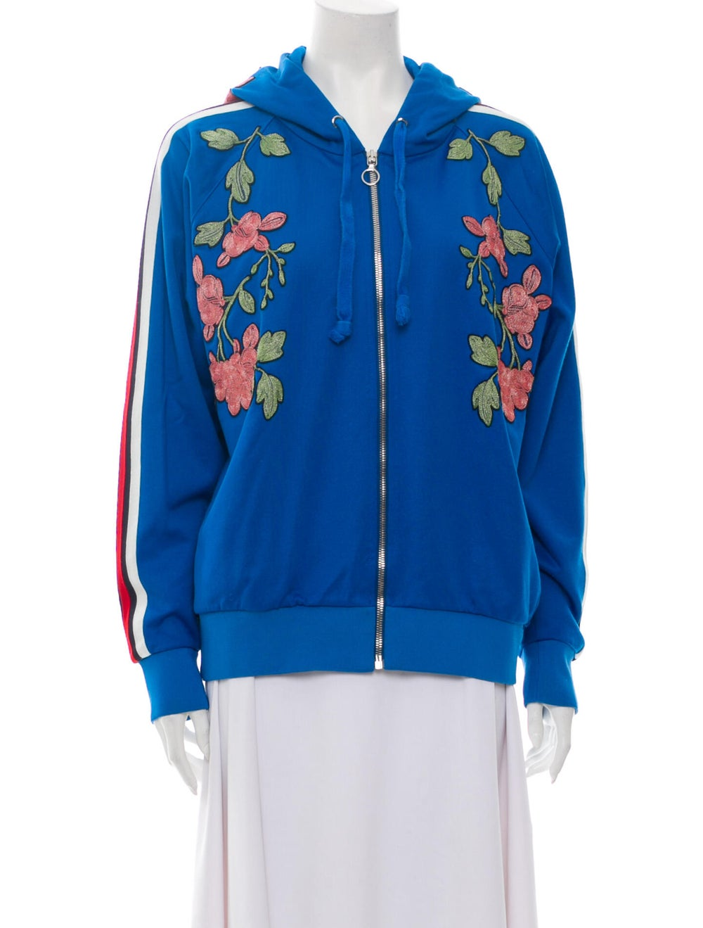 Gucci 2017 Floral Print Sweatshirt Blue - image 1