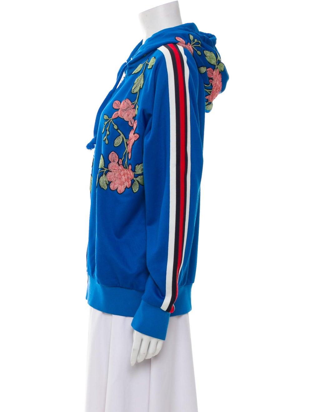 Gucci 2017 Floral Print Sweatshirt Blue - image 2