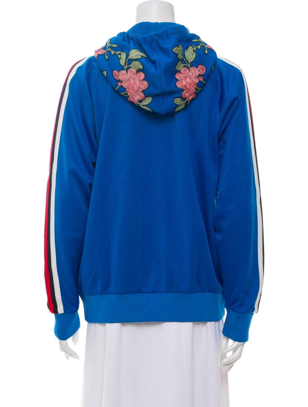 Gucci 2017 Floral Print Sweatshirt Blue - image 3