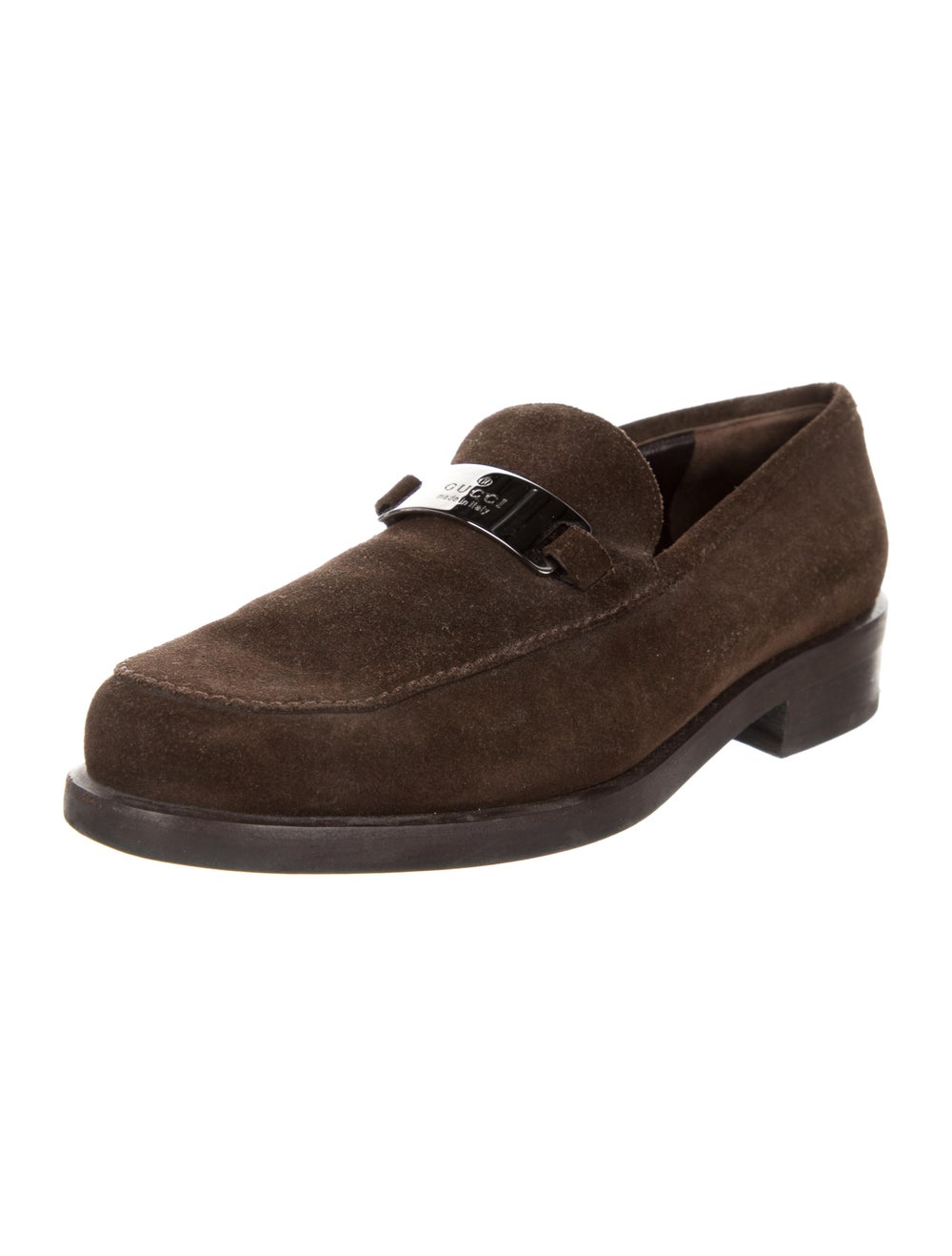 Gucci Suede Loafers Brown - image 2