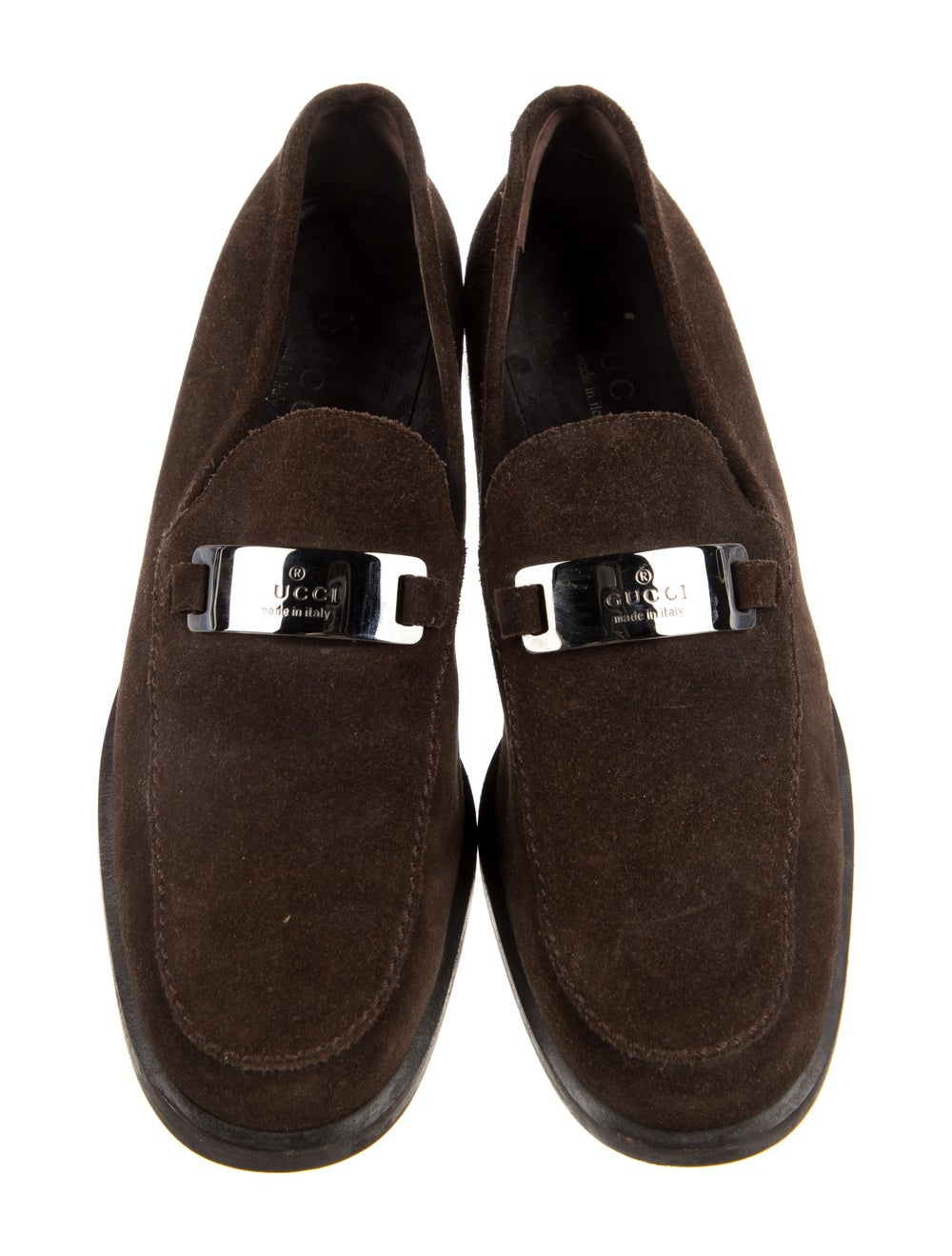 Gucci Suede Loafers Brown - image 3