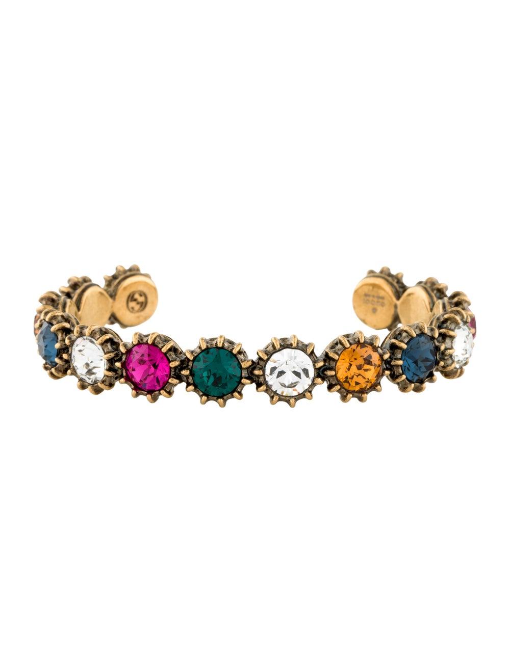 Gucci Multicolor Crystal Cuff Gold - image 1
