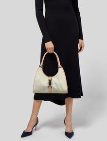 Gucci Vintage Small Canvas Jackie Bardot Bag