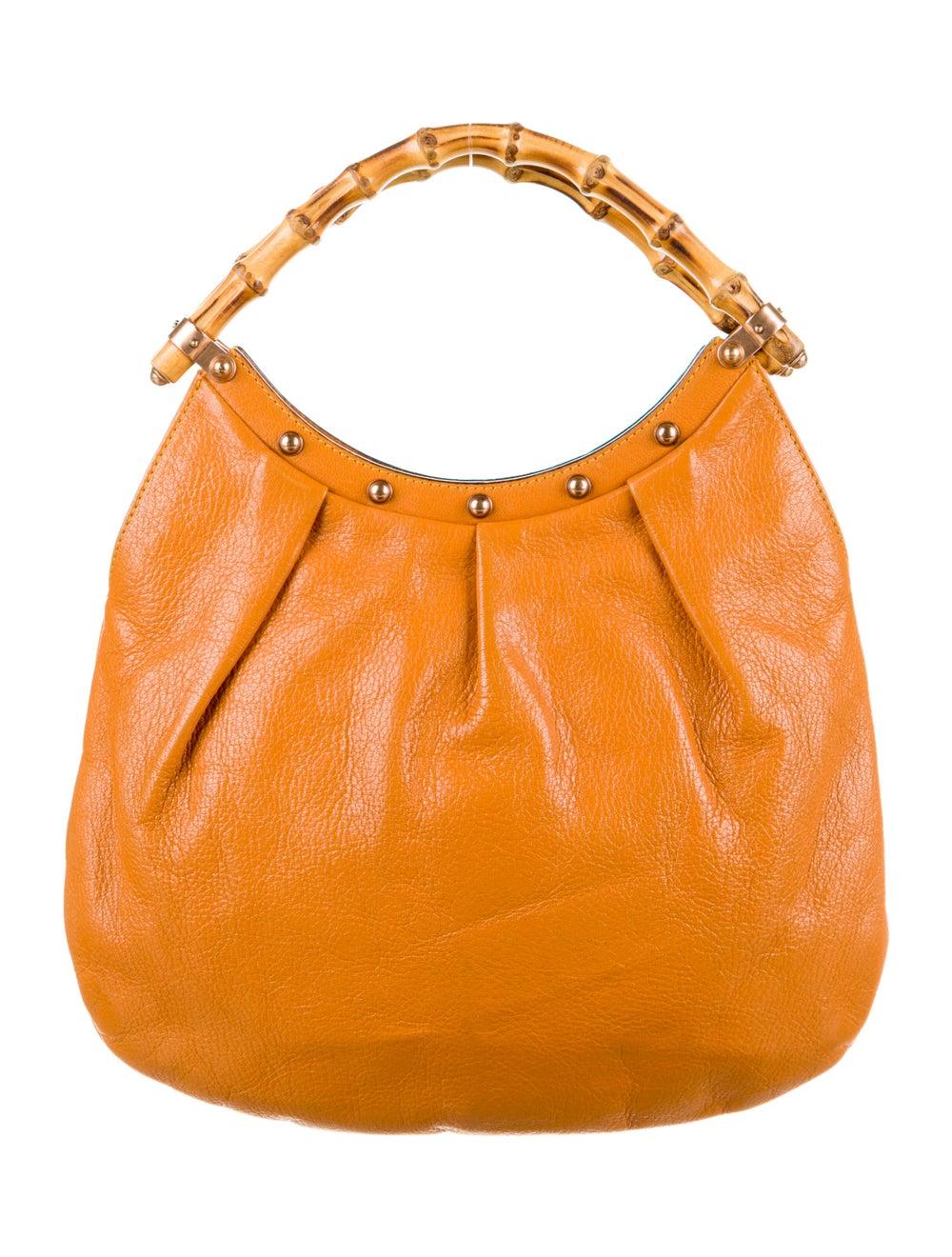 Gucci Leather Diana Bamboo Hobo Orange - image 1